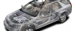 Car cutaway: Cadillac SRX (2004)