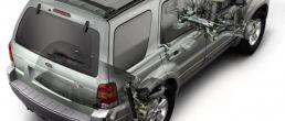 Car cutaway: Ford Escape Hybrid (2005)