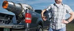 Jet-powered Ford F-150 on video
