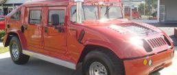 Hummer H1 aerodynamically modified