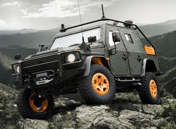 Mercedes benz g wagen armored concept takes the stage for Mercedes benz g wagon lapv 6 x
