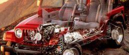 Car cutaway: Jeep Wrangler (1997)