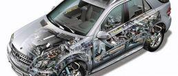 Car cutaway: Mercedes-Benz M-Class (2006)