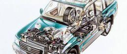 Car cutaway: Toyota Land Cruiser (1998)