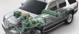 Car cutaway: Cadillac Escalade Hybrid (2009)